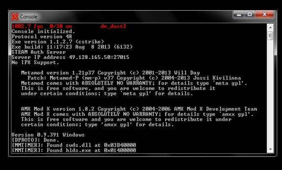 Counter strike 1 6 server - HLDS build 6132 v1 2 7 [Windows