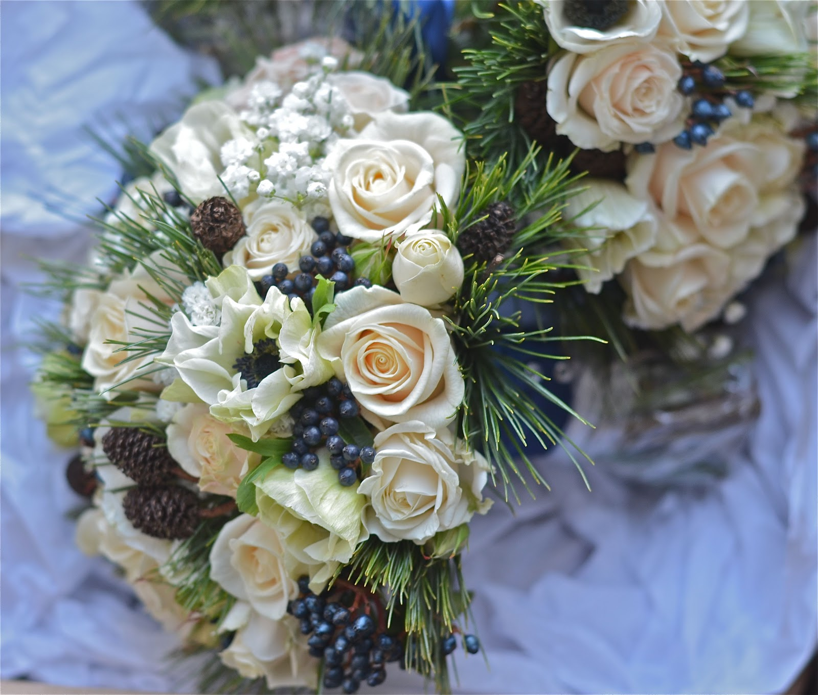Wedding Flowers: Wedding Flowers Blog: Lucy's Winter Wedding Flowers
