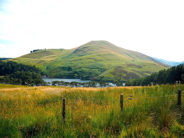 Glencorse Reservoir view walk in the Pentland Hills, Edinburgh, Scotland