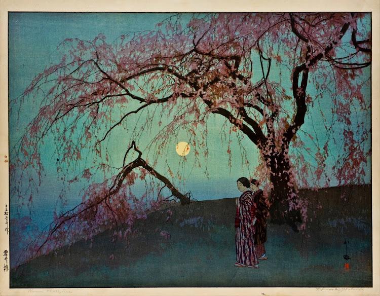 Hiroshi Yoshida - Kumoi-Zakura (Kumoi Cherry Trees) (c.1920)