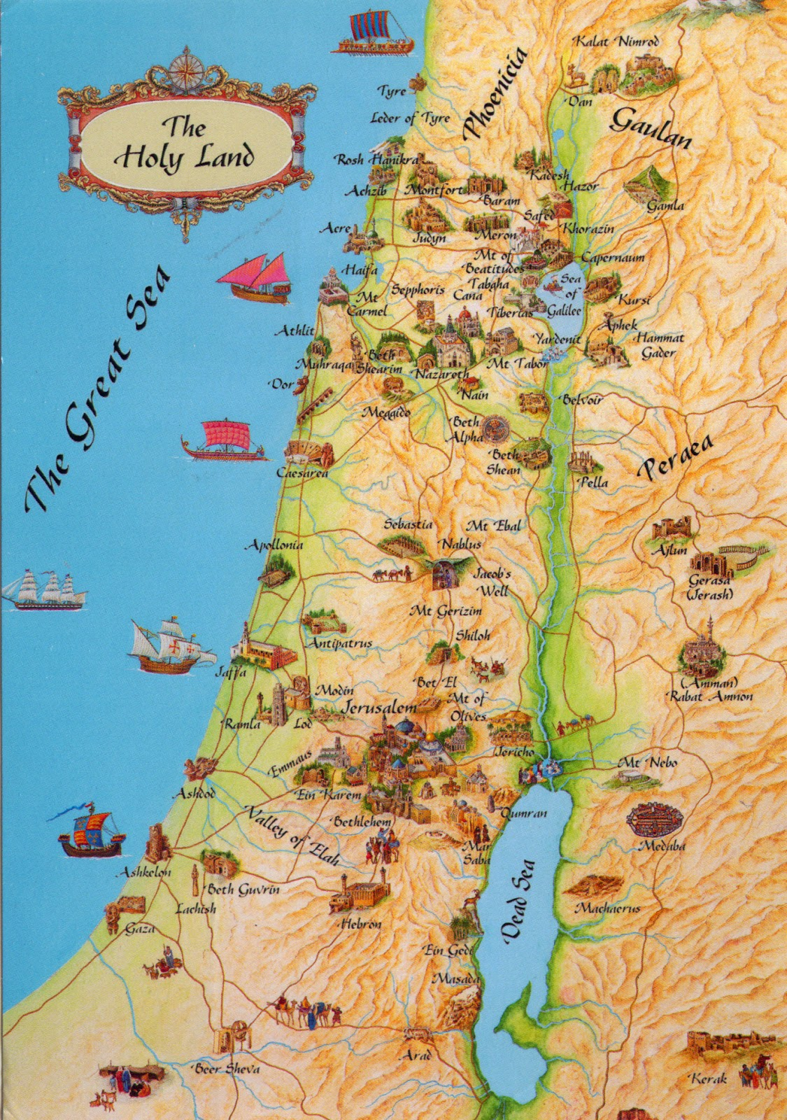 World come to my home 0315 israel the map of the holy land 0315 israel the map of the holy land gumiabroncs Gallery