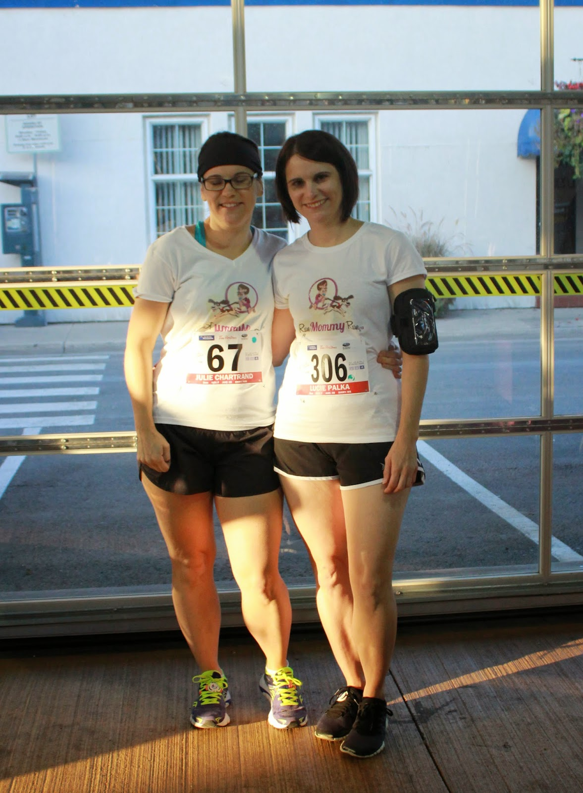 A photo of the twins before the race