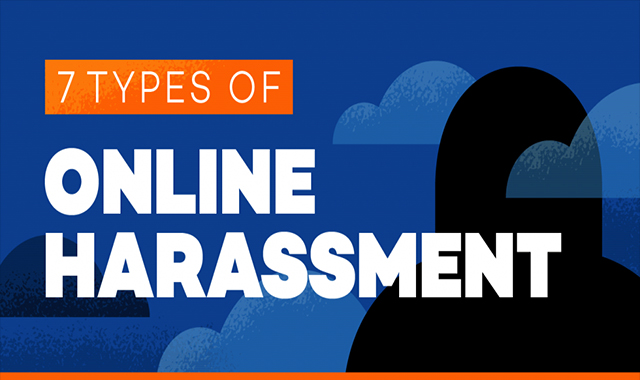 7 Types of online harassment #infographic