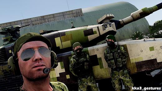Arma3ユニットへポーズを追加するMOD