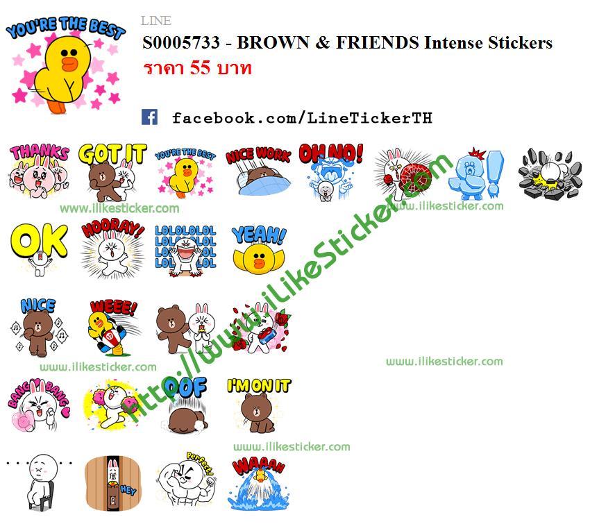 BROWN & FRIENDS Intense Stickers
