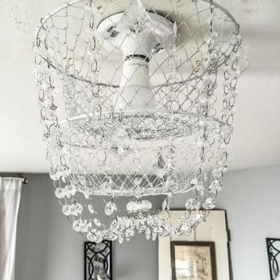 Easy crystal basket chandelier