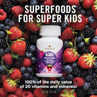 Multi-Vitamins for Kids in pile of berries