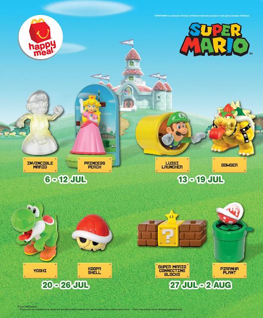 McDonald's McD Happy Meal Free Super Mario Mushroom Kingdom Toy Promo
