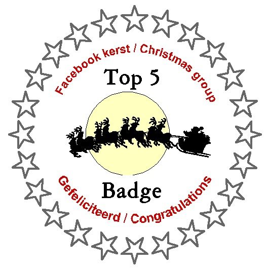 2 november 2019 in top 5 bij FB challenge Kerst/Christmas