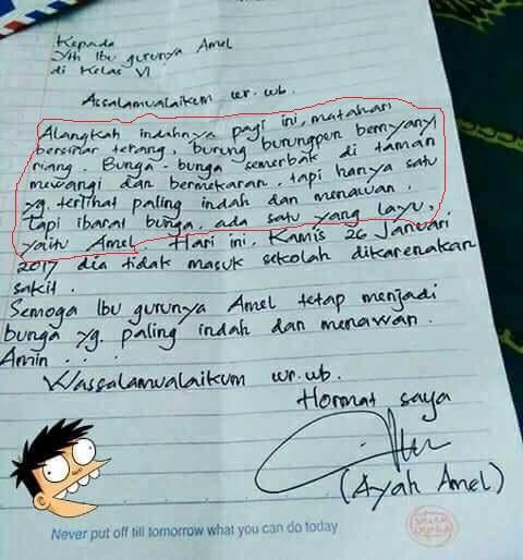 Surat Ayah Amel