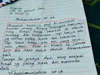 Inilah Surat Ayah Amel,Ibu Guru Amel , Ibu  dan Suratnya Amel Yang Sedang Viral Di Facebook