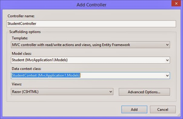 How to Create Data Model using Database in MVC Application