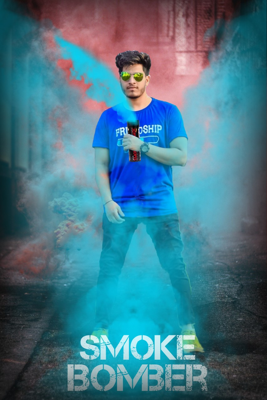 Smoke bomb effect manipulation editing picsart - A-KAY EDITS ZONE