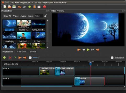 برنامج لمونتاج وتعديل الفيديو Openshot Video Editor احدث