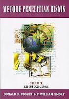 www.ajibayustore.blogspot.com  Judul : METODE PENELITIAN BISNIS 2 Pengarang : Donald R. Cooper & C. William Emory Penerbit : Erlangga