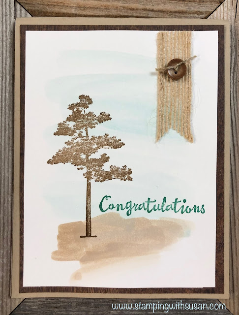 Stampin' Up!, Rooted in Nature, www.stampingwithsusan.com, Watercoloring,