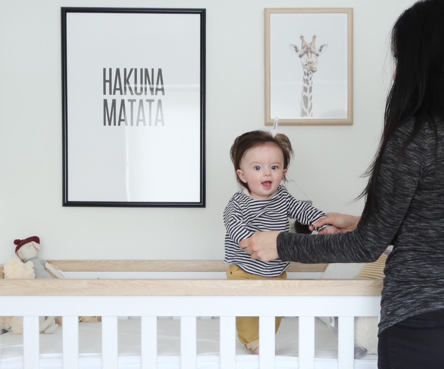 Baby Boy Nursery Decor Neutral Scandi Style White and Yellow