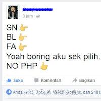 Arti dari BL, SN, dan FA yang Sering digunakan di Facebook