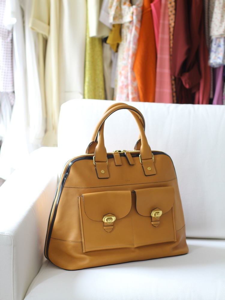 Louise Paris Chloe Sac Billy Forme Bowling En Cuir Camel