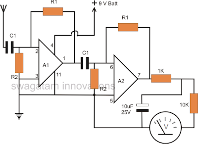 no contact mains 220V 120V phase detector circuit