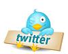 cute little blue Twitter bird
