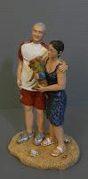 statuetta realistica regalo anniversario marito moglie cane orme magiche