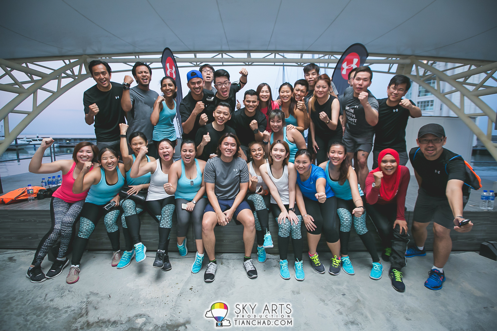 Roller skate shoes penang - Group Photo With Under Armour Athletes Of The Day After A Great Workout