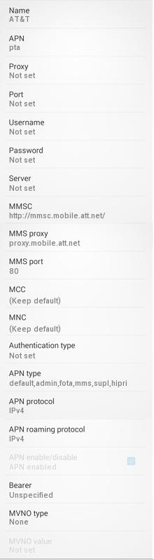 APN Settings for Android Smart Phones: