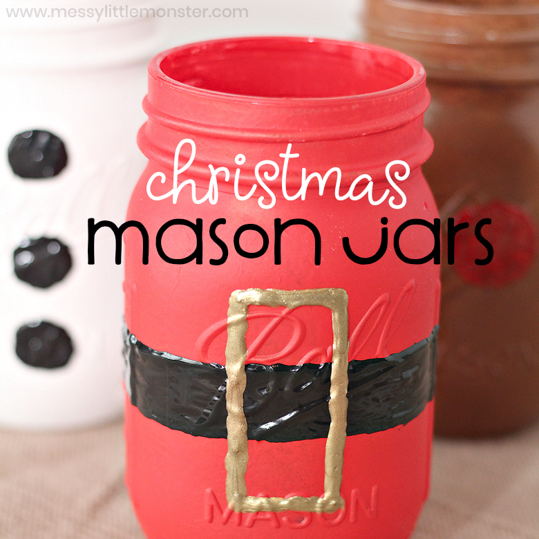 Painted Mason Jars - Christmas Crafts to decorate your home