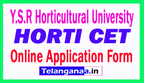 HORTICET 2018 Online Application Form Y.S.R Horticultural University