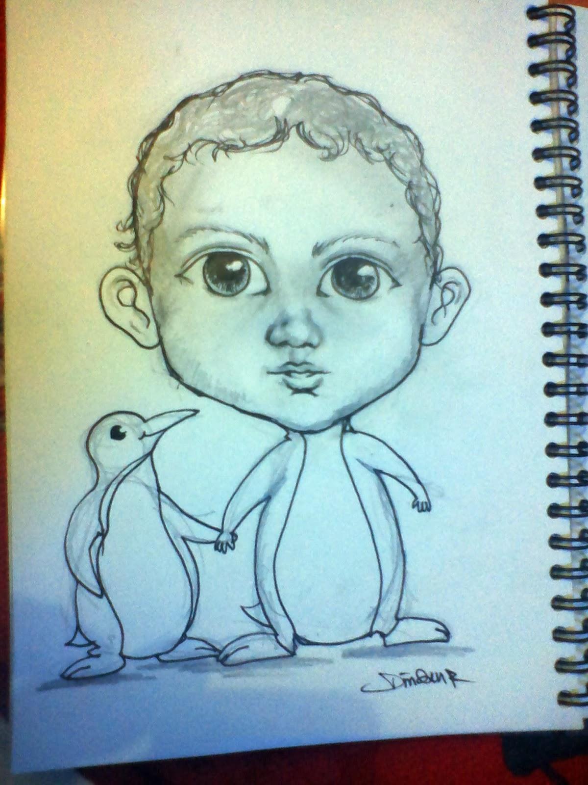 Dinsnusantara Tutorial Ilustrasi Karikatur Wajah Anak Lucu