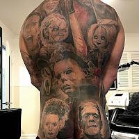 tatuaje para halloween personajes de terror