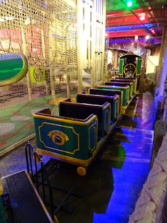 The jungle Express Miniature Train ride at The Lost Valley Adventure Golf at Amazonia in Bolton
