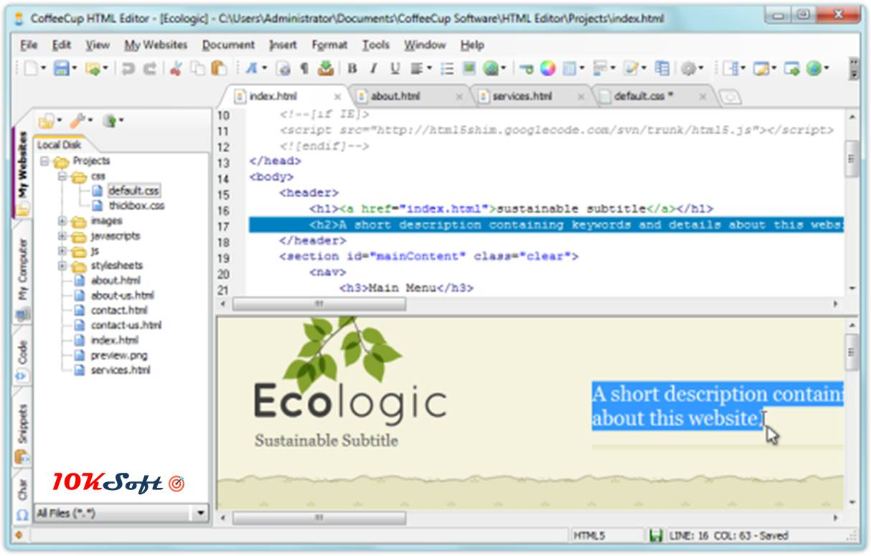 CoffeeCup HTML Editor Offline Installer Setup Download