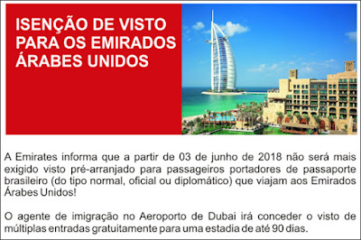 visto para os Emirados Árabes