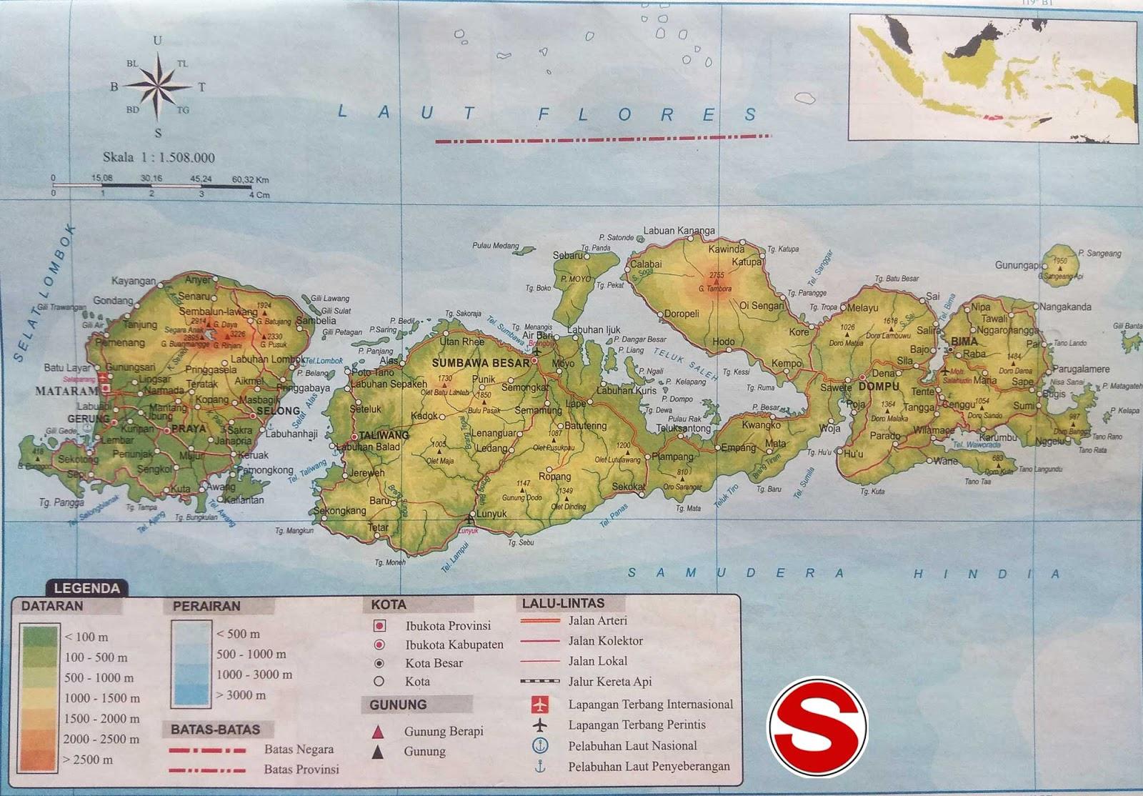 image: Peta atlas Nusa Tenggara Barat
