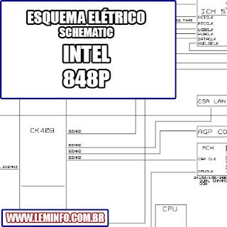 Esquema Elétrico Placa Mãe Intel 848P Motherboard Manual de Serviço  Service Manual schematic Diagram Placa Mãe Intel 848P Motherboard