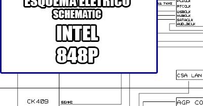 Esquema Elétrico Placa Mãe Intel 848P Motherboard Manual