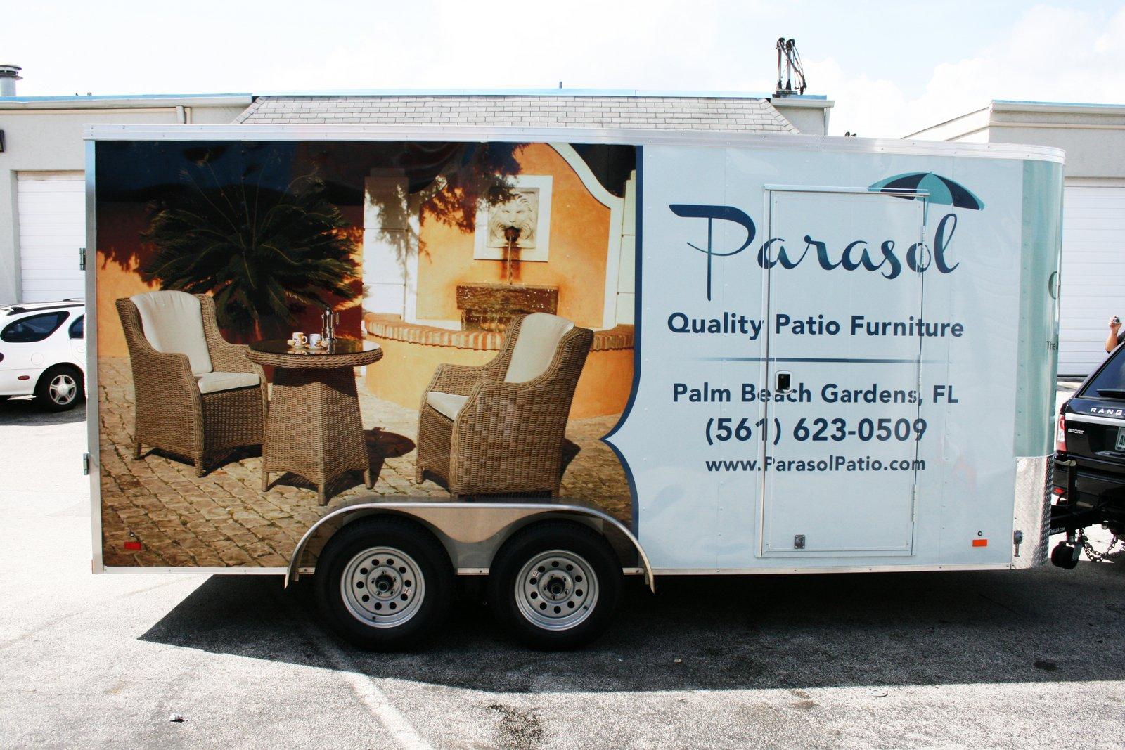 Trailer Wrap Palm Beach Gardens Fl For Parasol Patio