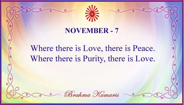 Thought For The Day November 7