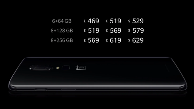 oneplus 6 pricing