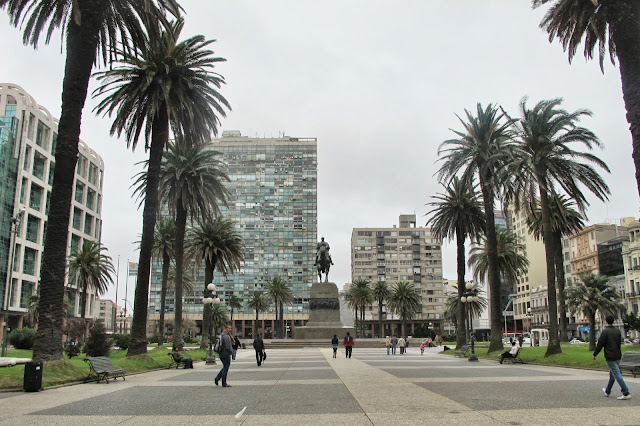 Plaza Independencia, em Montevideo, capital do Uruguai