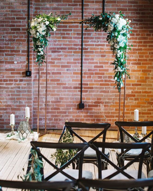 Calgary urban industrial wedding decor ideas