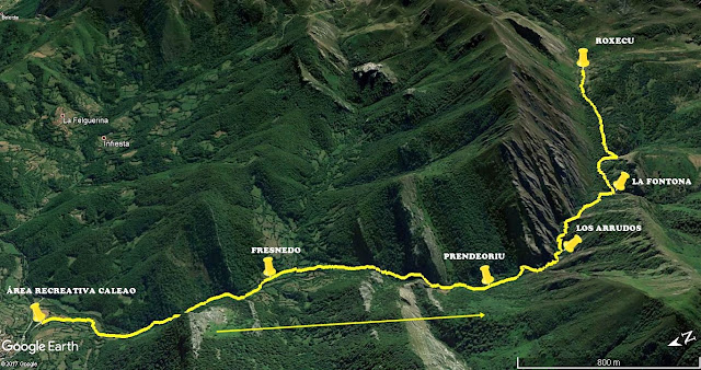 Desfiladero de Los Arrudos: Mapa 3D