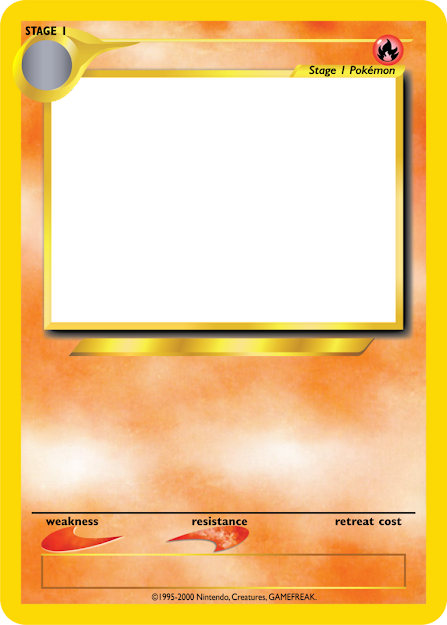 Blank Fire Pokemon Cards