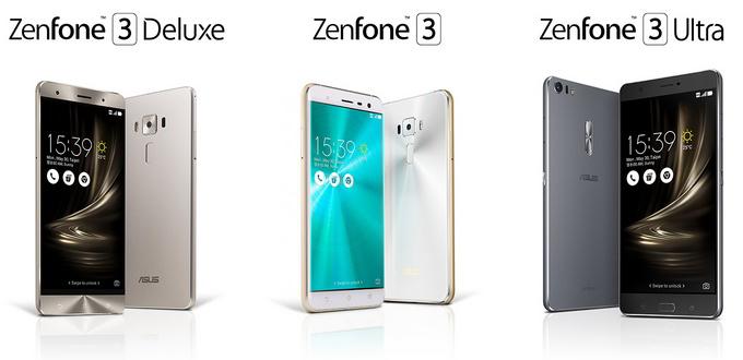 Zenfone 3 (standar), Zenfone 3 Ultra, Zenfone 3 Deluxe