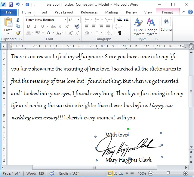 surat cinta love letter wedding anniversary in english