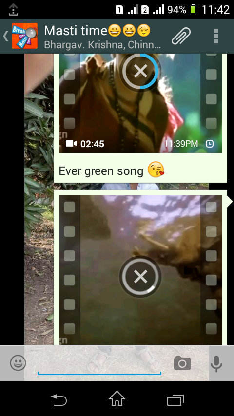 whatsapp uploaded half video without internet
