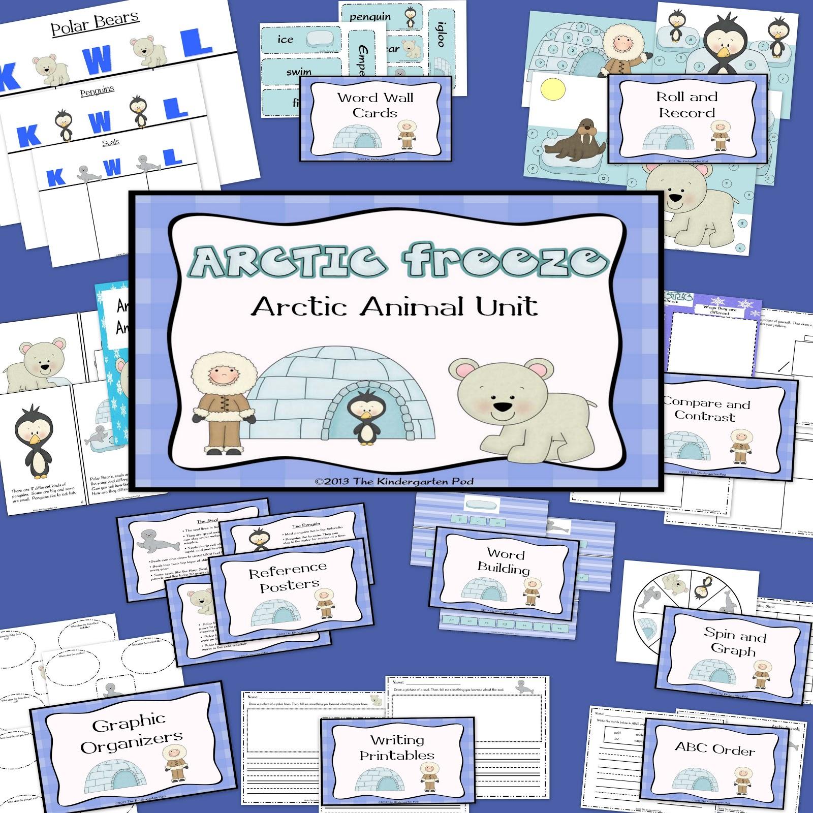 The Kindergarten Pod Arctic Animals Unit
