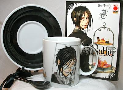 anime, manga, sebastian michaelis, mug